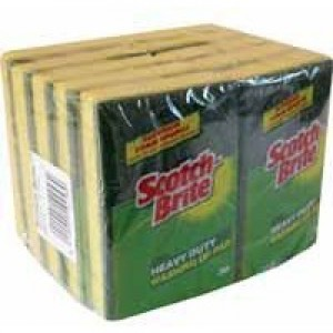 3M Scotchbrite Washing Up Scouring Sponge Pack of 10 1821
