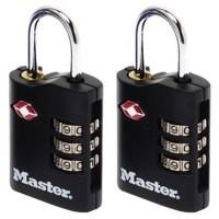Image for Master Lock ABS TSA-Certified Combi Padlock 30mm Pk 2 40046