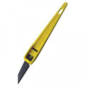 Stanley Cutting Knife Disposable with Plastic Handle Yellow Ref 0-10-601 [Pack 3]