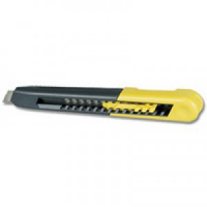 Stanley Heavy-duty Knife with ABS Plastic Body and 18mm Snap-Off Blade Ref 0-10-151