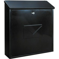 Image for Firenze Black Metal Mail Box
