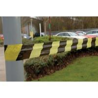 Tape Barrier Stripe 75mm x500 Metres Black/Yellow 304927