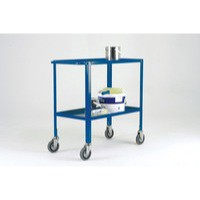 Image for Blue Service Trolley 2-Tier 125mm Castor