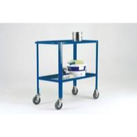 Image for Blue Service Trolley 2-Tier 125mm Castor