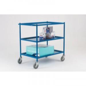 Service Trolley 3-Tier 813x508mm Blue 306759