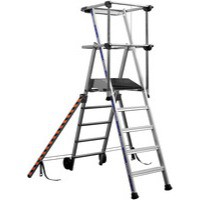 Image for Work Platform 6-Tread Silver 307572