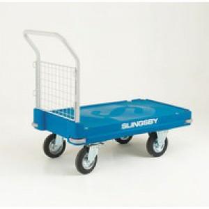 Plastic Platform Truck Push Handle 1 End Blue 308501