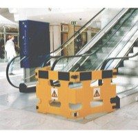 Barrier/Sign System Set of 3 Frames Yellow 309608