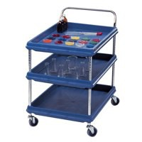 Deep Ledge Trolley 3-Tier Blue BC2636-3DBU 310788