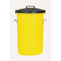 Heavyweight Cylindrical Storage Bin/Lid/Handles Yellow 311970