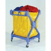 Folding Laundry Trolley Blue 314176