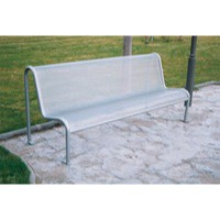 Value Metal Mesh Outdoor Bench Seat Grey 315563