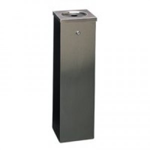 Flat Top Tower Bin 6.6 Litre Silver 316015