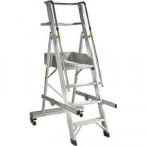 Folding Mobile Steps 4-Tread 316029