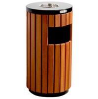 Waste Bin Outdoor Wooden Slats 316874