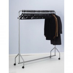 Garment Hanging Rail Plus 30 Hangers Silver 316939