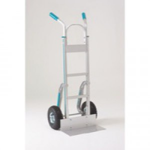 Stairclimbing Hand Truck Low-Friction Skids Pneumatic Tyres Aluminium 317672