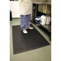 Kitchen Mat 850x1400mm Black 319138