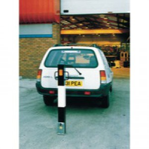 Heavy Duty Removable Steel Bollard Black/White 319860