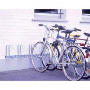 Wall/Floor Mounted Cycle Rack 4-Bike Aluminium 320079