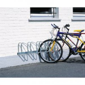 Wall/Floor Mounted Cycle Rack 4-Bike Aluminium 320080