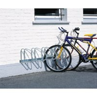 Wall/Floor Mounted Cycle Rack 4-Bike Aluminium 320080