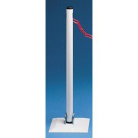 Barrier System Collapsible Post White 320087