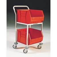 Mobile Storage Trolley c/w 2 Bins Red 321292