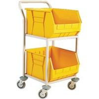 Mobile  Storage Trolley c/w 2 Bins Yellow 321293