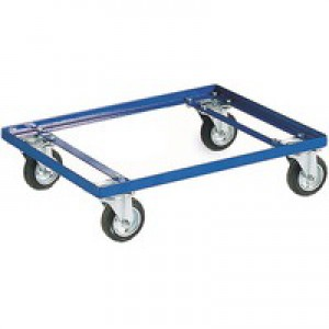 Container Dolly 100mm Rubber Castor Blue 321515