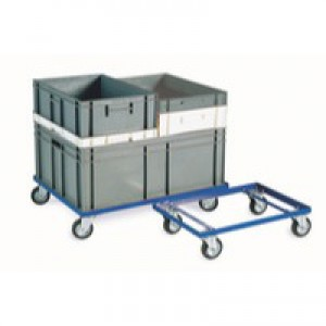 Container Dolly 100mm Rubber Castor Blue 321516