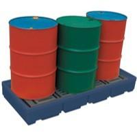 Pallet Sump Poly 4 Drum Capacity Blue 321623