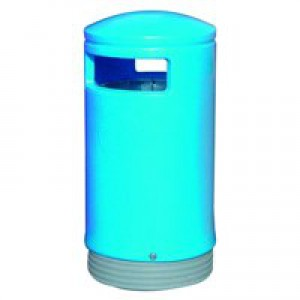 Outdoor Hooded Top Bin 75L Blue 321772