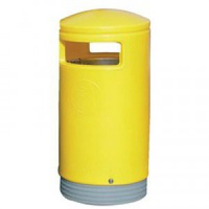 Outdoor Hooded Top Bin 75L Yellow 321774