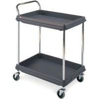 Deep Ledge Trolley PBC2030-2DBL 2-Tier Black 322441