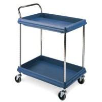 Deep Ledge Trolley PBC2030-2DBU 2-Tier Blue 322442