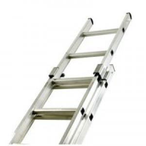 Two Section Push-up Aluminium Ladder 20-Rung 323141