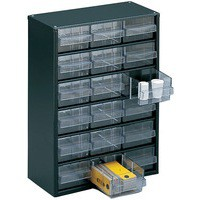 Storage Cabinet Clear Drawer System Dark Grey 324117