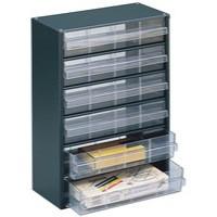 Storage Cabinet Clear Drawer System Dark Grey 324223