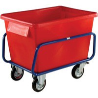 Plastic Container Truck 1040x700x860mm Red 326055