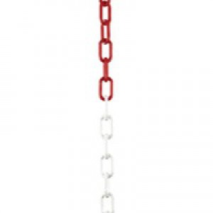 Plastic Chain 10mm Short Link 25 Metre Red/White 328273