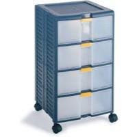 Mobile Storage Cabinet 4-Drawer Blue 329107