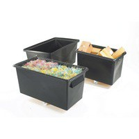 Recycled Container Truck Poly Straight Sided Black 329113