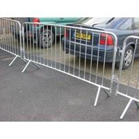 Crowd Control Barrier 1120x2470mm 1-4 Silver 329358