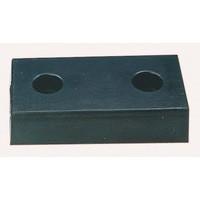 Heavy Duty Dock Bumper Moulded 2 Hole Black 330102