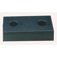 Heavy Duty Dock Bumper Moulded 2 Hole Black 330102