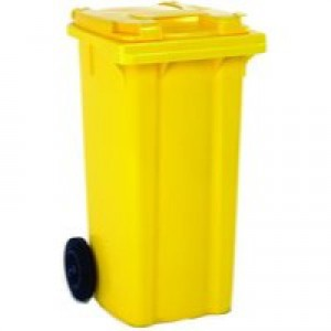 Refuse Container 80L 2-Wheel Yellow 331275