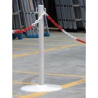 Steel Post 80cm on Base White 349733