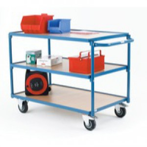 Table Top Cart Blue/Brown 354874