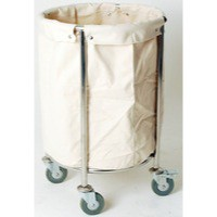 Linen Truck with Bag Chrome 356928